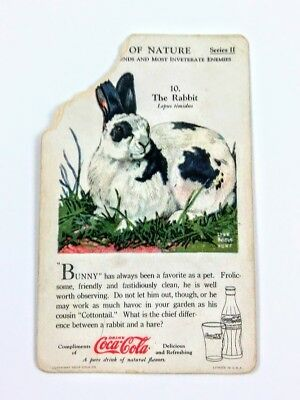 1930 Coca Cola~The World of Nature~#10 The Rabbit~Series 2~Man's Closest Friends