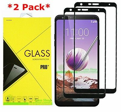 2-Pack Full Cover Premium Tempered Glass Screen Protector For LG Stylo 4