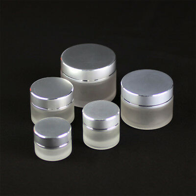 1-10PCS 5/10/15/30/50g Thick Glass Facial Cream Jar Empty Cosmetic Container