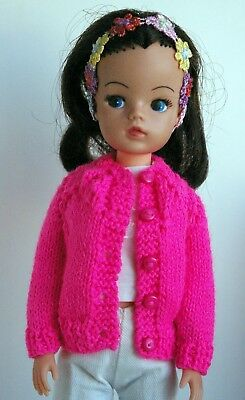 Hot pink Dolls cardigan to fit Sindy Tammy Tressy Barbie and Susi lot 24