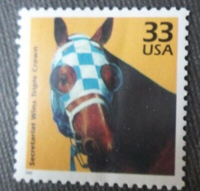 Secretariat stamp horse racing Derby Preakness Belmont Stakes Triple Crown win