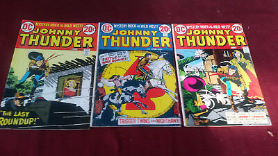 DC Comics Johnny Thunder Mystery Rider of the Old West No.1, 2, 3 Fine Plus
