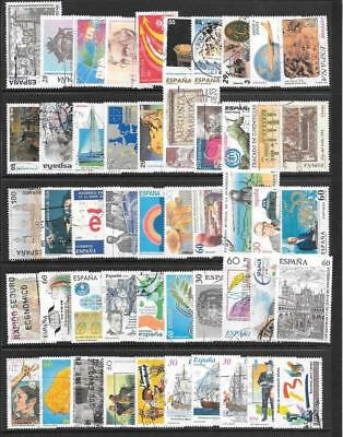 SPAIN - 100 x Used Commemoratives - 1980s/90s Period