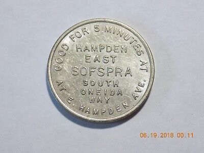 SOFSPRA Car Wash Token - HAMPDEN EAST - Denver, Colorado