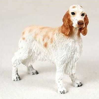 ENGLISH SETTER Dog HAND PAINTED resin FIGURINE COLLECTIBLE puppy ORANGE BELTON
