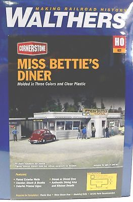 HO Scale Model Railroad Trains Layout Miss Betties Diner Walthers Building Kit