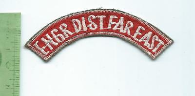 US Army Engineer District Far East  Tab Arc  patch theater made