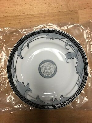 Versace Rosenthal ARABESQUE ICE Canape Dessert Plates Medusa Set / 4 - NEW/BOX!