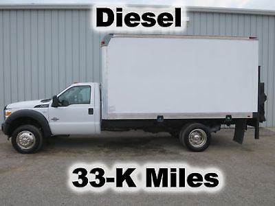 F450 Diesel Automatic 14Ft Box Delivery Cube Van Lift Gate  Truck 33-K Miles
