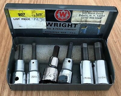 Wright Tool & Forge Company Socket Set