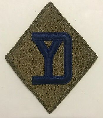 Original WWII 26th Division Patch OD Back