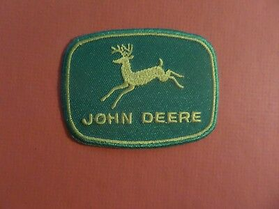 JOHN DEERE GREEN & GOLD   Embroidered 2-1/4 x 3 Iron On PATCH