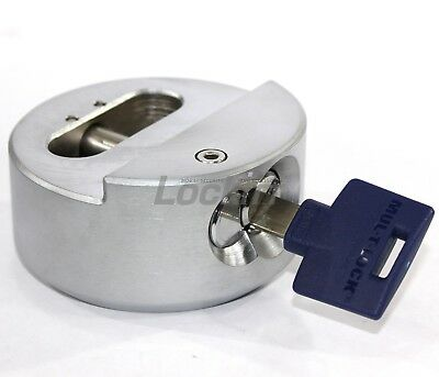 Mul-T-Lock TR100 Hidden Shackle Puck Padlock Interactive Plus Keyway