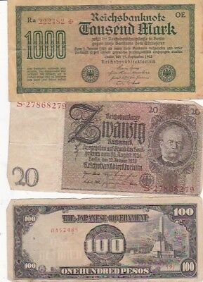 7 1922-2011 Circulated Notes From All Over