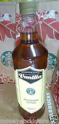 Starbucks * Vanilla Flavour Syrup For Coffee 1 Litre ,Fresh