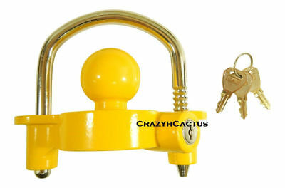 "Hitch Ball Coupler Lock Trailer 4 Locks 2"" 1 7/8"" KEYED ALIKE! Same Key! 3 Keys"