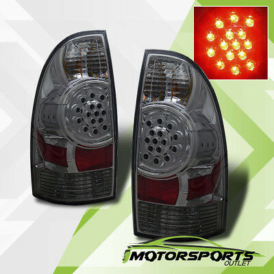 For 2005-2015 Toyota Tacoma PickUp LED Smoke Brake Tail Lights Rear Lamps Pair