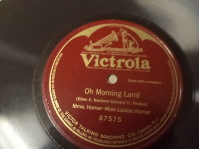 VICTROLA 1-Sided 78/Mme. Homer&Miss Louise Homer/E!