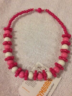 NWT Gymboree Pink Flowers, Beads Necklace