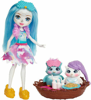 "Enchantimals Sleepover Night Owls Playset & Doll 6"" New New"
