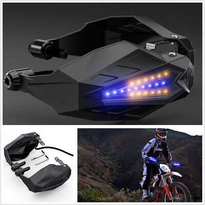 2Pcs Motorcycle Handguard Baffle Windshield Hood With LED Windproof Waterproof