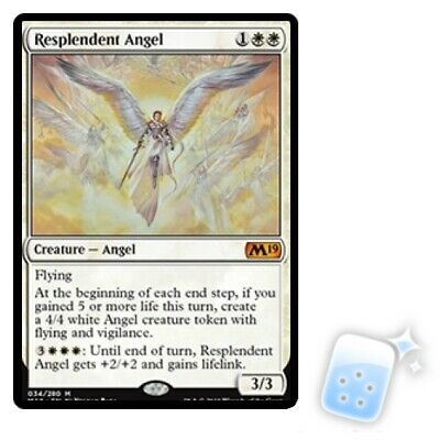 RESPLENDENT ANGEL Core Set 2019 M19 Magic MTG MINT CARD