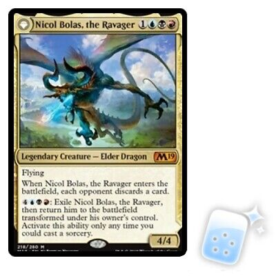 NICOL BOLAS, THE RAVAGER / NICOL BOLAS, THE ARISEN Core Set 2019 M19 Magic MTG