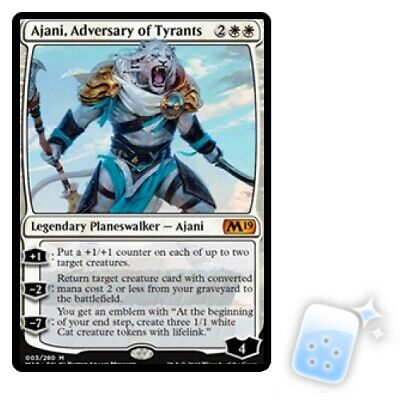 AJANI, ADVERSARY OF TYRANTS Core Set 2019 M19 Planeswalker Magic MTG MINT CARD