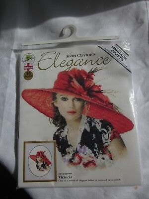 Heritage Crafts 'elegance Victoria'  Counted Cross Stitch - 14 Count