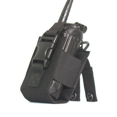 Men Tactical Holster Pouch Radio Holder Walkie Talkie Bag Molle Pouch Waist Bag