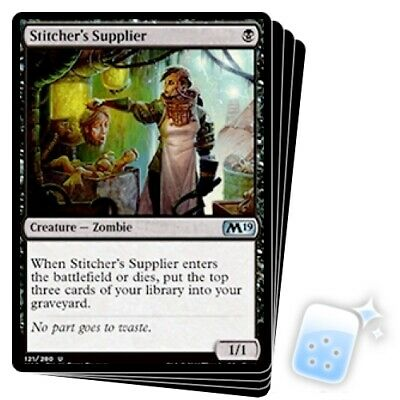 STITCHER'S SUPPLIER X4 Core Set 2019 M19 Magic MTG MINT CARD