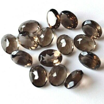 Lot of 10x8mm to 18x13mm Oval Cut Natural Smoky Quartz Loose Calibrated Gemstone
