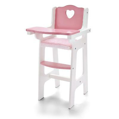 Molly Dolly My First Dolls Wooden High-Chair Feeding Doll Wood Toy