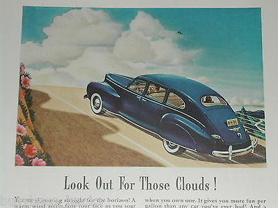 1941 Lincoln ad, Lincoln Zephyr, color art