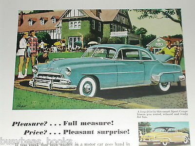 1952 Chevrolet ad, Chevy Sport Coupe, Country Club