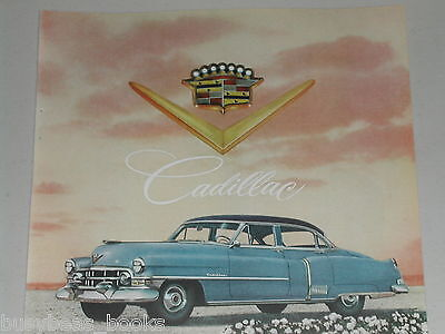 1952 Cadillac ad, Golden Anniversary Caddy, color photo