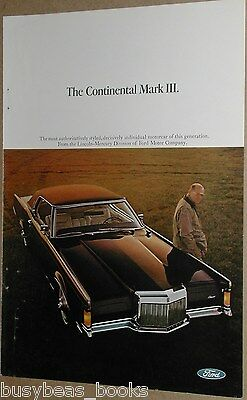 1968 Lincoln advertisement, Lincoln Continental Mark III