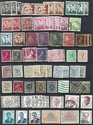 Lot of Belgium used stamps - 3 pages see other scans