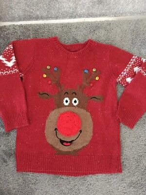 Boys Chritmas Jumper By Next Age 4 Years