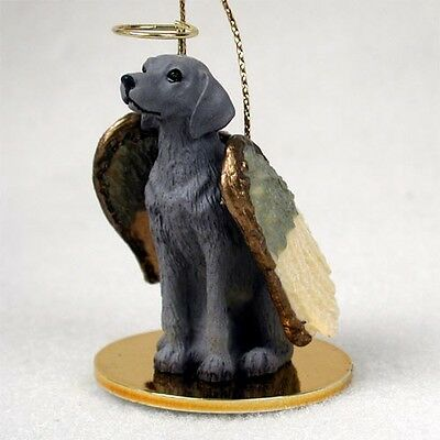 WEIMARANER dog ANGEL Ornament HAND PAINTED resin Figurine Christmas COLLECTIBLE