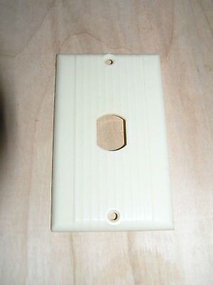 Vintage Ivory Bakelite Uniline Single Switch Plate Cover Lined Art Deco