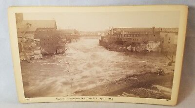 1892 Cabinet Card Photo Black River, Watertown NY From RR NO Reserve
