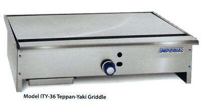 "Imperial Range ITY-36 36"" Stainless Teppan-Yaki Gas Griddle w/ 1 Burner"