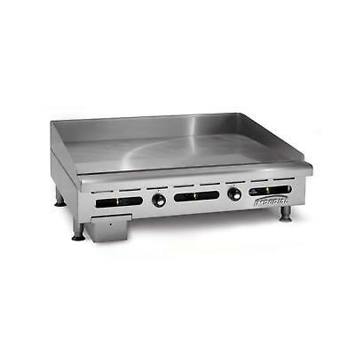"Imperial Range 60""x24"" Countertop Gas Griddle - 4"" Wide Front Grease Trough"