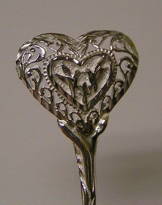 Salt Spoon Sterling Silver (w/2 Dove   )