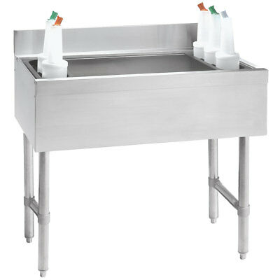 "Advance Tabco 24""W S/s Cocktail Unit w/ 12"" Deep Chest 77lb Ice Capacity"