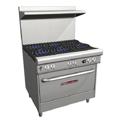 """Southbend H4362D 36"""" Ultimate Range Gas/Electric, 6 Burners, Wavy Grates"""