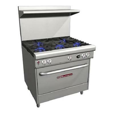 """Southbend H4365A 36"""" Ultimate Range Gas/Electric 3 Burners 2 Pyromax Burners"""