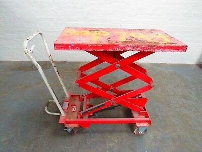 Lift mate mobile double scissor lift table BS30D height:1585mm 300kg capacity