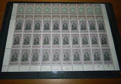Trinidad George Vi 1951 University Set Of 2 In Part Sheets Of 30
